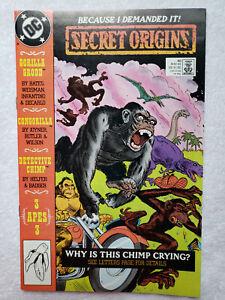 Secret Origins #40 (May 1989, DC) [VF- 7.5] Grodd / Congorilla / Detective Chimp