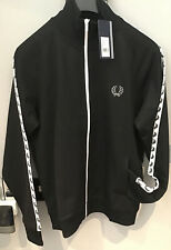 Fred Perry : Taped Track Top / Jacket (L ) Black