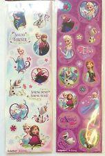 8 Strips Disney Princess Frozen Elsa Anna Olaf Stickers Party Favors