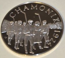 CHAMONIX 1924 FIRST WINTER GAMES, HISTORY OF THE OLYMPIC GAMES .925 SILVER, RARE