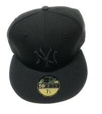 60078ad8fa8 New Era New York Yankees Black On Black 59FIFTY Cap - 7 1 8