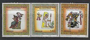 MEXICO - #1201-#1203 - PRE-HISPANIC PERSONALITIES MINT SET (1980) MNH