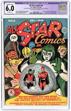 ALL STAR COMICS #8 CGC 6.0 restored 1941 Grail Comic Book 1st app Wonder Woman !