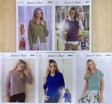5 x dk patterns :womens  knitting patterns pack 12