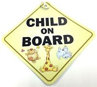 Child On Board Suction Cup Safety Fun Car Display Window Badge Sign