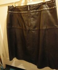 Black Leather Skirt 18 Will Fit 16 NEW