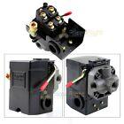 4 Port Air Compressor Pressure Switch Control Valve 95-125 PSI w/ Unloader New