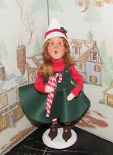 Byers Choice Caroler Mitzi the Elf Girl with Candy Cane 2016  *
