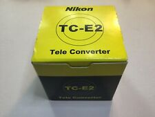 Nikon TC-E2 2x Tele Converter Camera Lens with Box + Case LOOK
