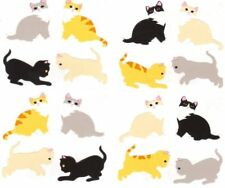 ~ Little Brown Black Grey White Kittens Kitten Cats Mrs Grossman Stickers ~