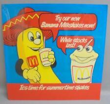 More details for rare mcdonalds advertising sign banana milkshake plexiglass/plastic c1977
