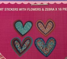 VALENTINE FOAM HEART Stickers(16pc) Flowers•Zebra•Holiday•Couple•Love •Wedding💖