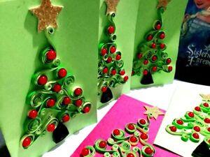 Handmade children christmas greeting cards
