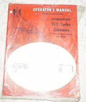 `International Harvester 153 Series Cultivators Operator's Manual P/N 1083894R1