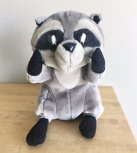 "90s The Walt Disney Store Applause Pocahontas 9"" Meeko Plush Stuffed Raccoon"