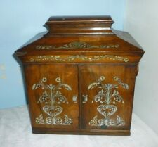 More details for very fine mother of pearl inlaid casket with writing slope for restoration