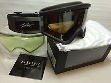 NEW Electric EGV JSLV Pro Matte Black ski snowboard goggles +free lens Msrp$110