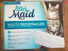 New listing LitterMaid Waste Receptacles, 18Count 18-count, Grey New