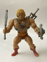 Vintage Mattel He-Man Figure Axe, Shield, Sword & Chest Harness Motu 1982