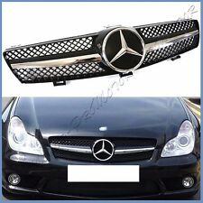 For W219 05-08 M Benz CLS550 CLS350 Painted Gloss Black w DTR Front Mesh Grille