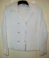 A  LOVELY TALBOTS PETITE WOMENS  WHITE JACKET  UK SIZE S
