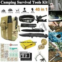 40 in 1 Survival Kit Tactical Camping Outdoor Emergency Backpack Hunting Tools