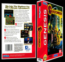 Shadowrun - Sega Genesis Reproduction Art Case/Box No Game.