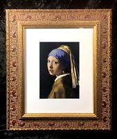 Girl with a Pearl Earring by Johannes Vermeer Framed Fine Art Print Portrait