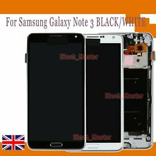 For Samsung Galaxy Note 3 LCD Display Touch Screen Digitizer + Frame N9005 White
