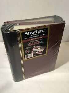 2 New Stratford Collection European Bonded Leather Albums Hold 400 4×6 Photos