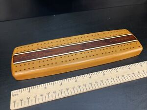 Two Track Inlay Cribbage Board Second Second Quality - Heartwood Creations