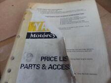 Yamaha Motorcycle/Atv 4/1/95 Parts Accessories Price List Factory Manual #B2