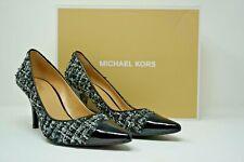 ac8967141bf4 Michael Michael Kors Mk-flex Mid Toe Cap Tweed Heel PUMPS Size 9