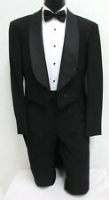 40 Short New Black Satin Shawl Lapel Fulldress Tuxedo Tailcoat Wedding Mason 40S