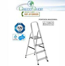 Sgabello/Scaletta pieghevole in alluminio 4 gradini