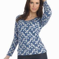 Liz Claiborne New York Ribbon and Dot Print Scoopneck T-shirt Sz XL QVC Blouse