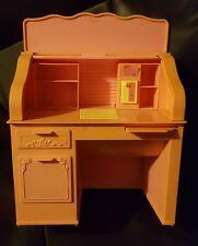 1988 Mattel BARBIE EUROPEAN MAGIC Pink Roll Top Desk FURNITURE SET SPARKLE #3639