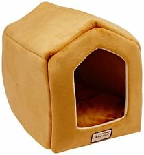 "Waterproof & Skid Free Soft Cave Shape Pet Beds for Cats and Small Dogs 18""x14"""