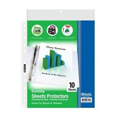 Economy Weight Top Loading Sheet Protectors 10pack Holds 85 X 11 Paper