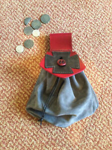 Medieval LARP Re enactment handmade leather Belt Pouch Bag