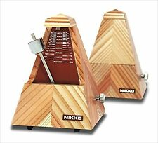 New NIKKO compact metronome Wood So 610 from Japan F/S