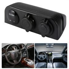 12V/24V 3-Socket Car Cigarette Light Socket Dual USB Charger Voltmeter MA1161