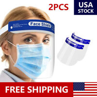 2 PCS Safety Full Face Shield Reusable Washable Protection Cover Face Mask USA