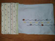 Vintage Gymboree Boys Baby Blanket 2001 Beetle Bugs Blue Reversible
