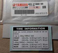 YAMAHA R1 TYRE CAUTION WARNING DECAL 1998 - 2000 Gen Yamaha-    4XV-21668-00