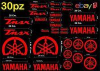 MAXI KIT 30 PEZZI SERIE DI ADESIVI YAMAHA TMAX  T- MAX 500 - 530 COLORE ROSSO