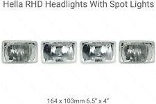 4 Rectangle Halogen Headlight/Headlamps UK RHD Chevrolet V8 Van G20 Day Chevy