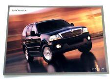 2004 Lincoln Aviator Original Sales Brochure Folder