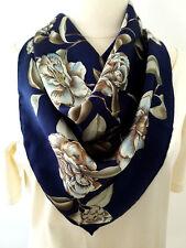 Vintage, Designer, Prestigious Qifang Scarf, 100% Silk, 34.5 x 34.5 inches