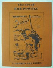 THE ART OF BOB POWELL A GOLDEN AGE INDEX 1978 ED LANE FANZINE